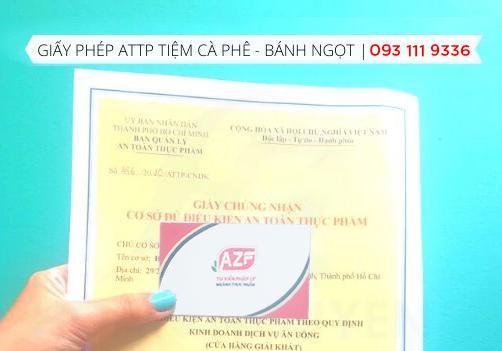Giấy phép an toàn thực phẩm cho tiệm Cà Phê– Bánh Ngọt tại HCM